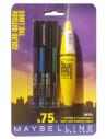 סט איפור לעיניים: מסקרה + 4 עפרונות מבית מייבלין