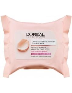 לוריאל - מגבונים להסרת איפור לעור רגיש FLEURS RARES