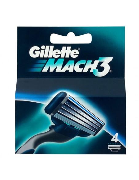 ג'ילט - מאך 3 סכין גילוח X4