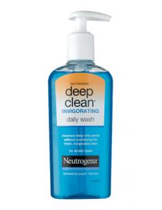 דיפ קלין אינביג - סבון פנים 200מל לשימוש יומי מרענן לכל סוגי העור מבית ניוטרוג'ינה