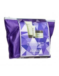 מארז טיפוח מבית AHAVA - מסכת בוץ מינרלי + קרם לחות + תחליב ניקוי + תיק