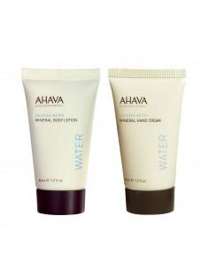 מארז mineral power ahava - קרם ידיים מינרלי + תחליב גוף מינרלי