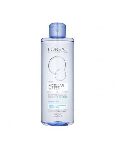 LOREAL - מים מיסרליים לניקוי והסרת איפור והרגעת העור לעור רגיל עד יבש / ועור רגיש