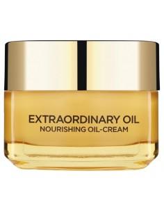 לוראל - קרם הזנה Extraordinary Oil לפנים וצוואר בתוספת שמנים ויסמין לבן