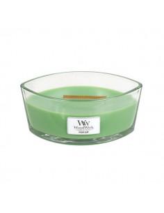 WoodWick - נר עם להבה ייחודית בריח Palm Leaf