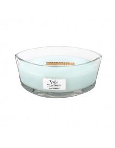 WoodWick - נר עם להבה ייחודית בריח Pure Comfort