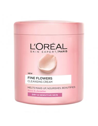 לוריאל - FINE FLOWERS קרם להסרת איפור לעור יבש ורגיש