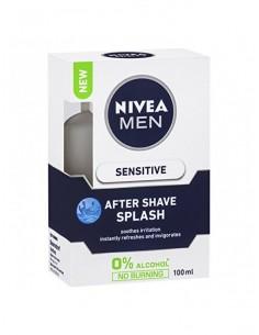 NIVEA - אפטר שייב לעור רגיש ללא אלכוהול מי קולון 100מל