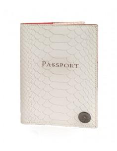 כיסוי לדרכון דמוי עור צבע לבן ויקטוריה סיקרט