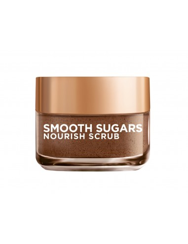 לוריאל - מסיכת SMOOTH SUGARS - גרגירי פילינג סוכר להזנת העור