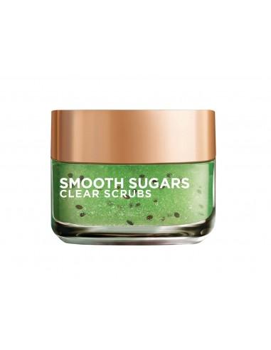 לוריאל - מסיכת SMOOTH SUGARS - גרגירי פילינג סוכר לטיהור העור
