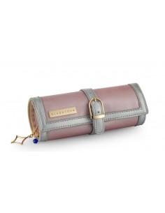 בלוסטון - תיק לתכשיטים Glitter Roll Pinkish Silver