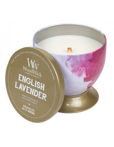 WOODWICK - נר אווירה Artisan Tin English Lavender