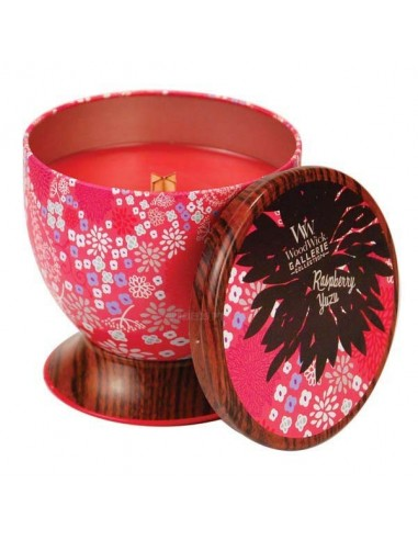 WOODWICK - נר אווירה Gallerie Tin Raspberry Yuzu
