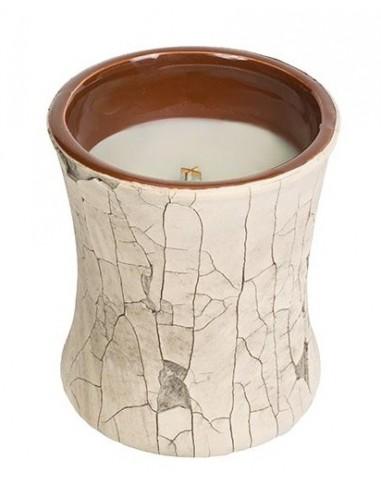 WOODWICK - נר אווירה PlusWick Ceramic Hourglass Fireplace