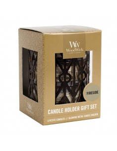 WOODWICK - מארז מתנה 3 נרות FireSide