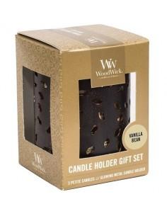 WOODWICK - מארז מתנה 3 נרות Vanilla Bean