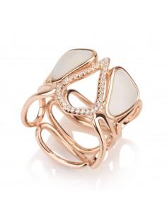 טבעת משובצת משולב אבן פנינה - מבית אינפינטי