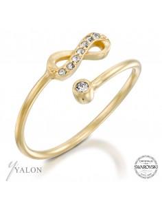 טבעת אינפינטי משובצת אבני SWAROVSKI