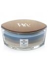 WoodWick - נר עם להבה ייחודית בריח Warm Woods